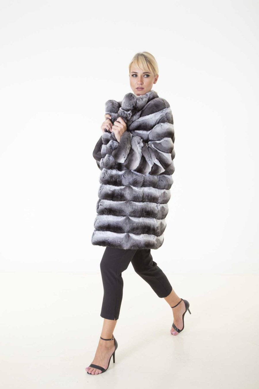 Chinchilla Skin Long Sleeve Jacket | Sarigianni Furs