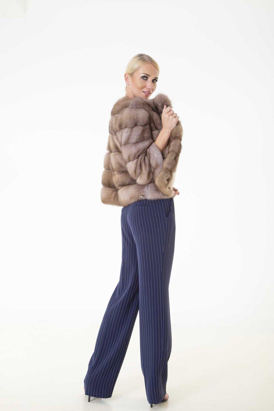 Tortora Sable Skin Jacket | Sarigianni Furs
