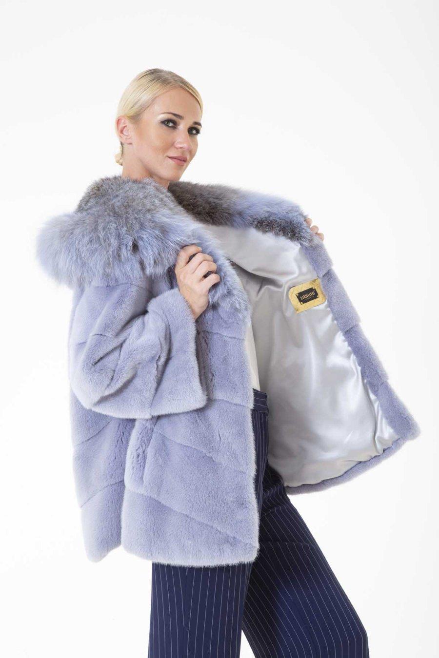Hydrasia Male Mink Jacket with Hood   Sarigianni Furs