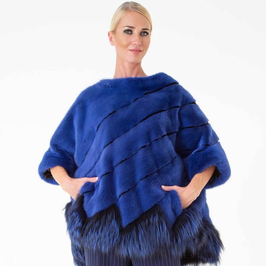 Shock Blue Male Mink Blouse | Блуза из меха норки - Sarigianni Furs