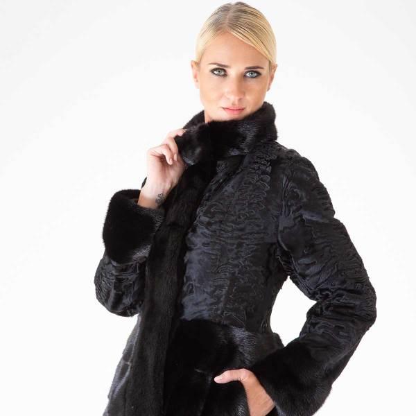 Blackglama Male Mink and Swakara Skin Jacket | Пальто из меха норки Blackglama и Свакары - Sarigianni Furs