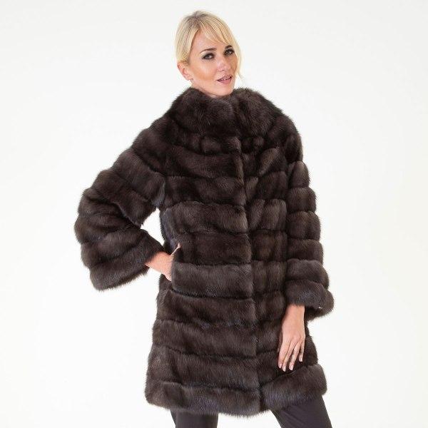 Barguzin Sable Fur Jacket | Пальто из меха баргузинского соболя - Sarigianni Furs