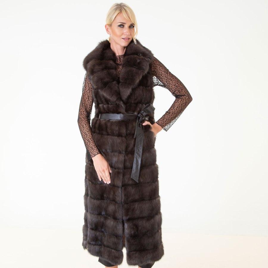 Barguzin Sable Fur Vest | Жилет из меха баргузинского соболя - Sarigianni Furs