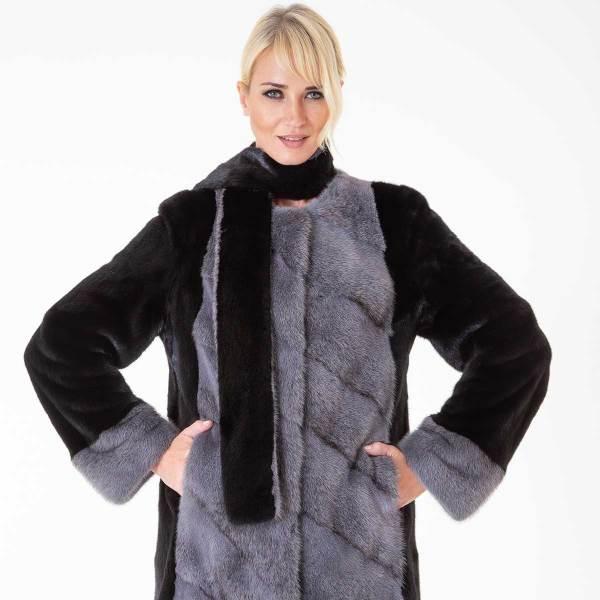 Blackglama Male Mink Jacket | Пальто из меха норки Blackglama с шарфом - Sarigianni Furs