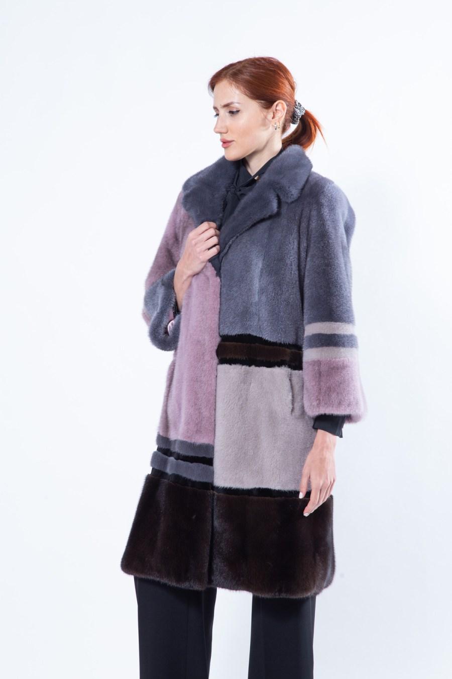 Multi-coloured Mink Jacket   Sarigianni Furs