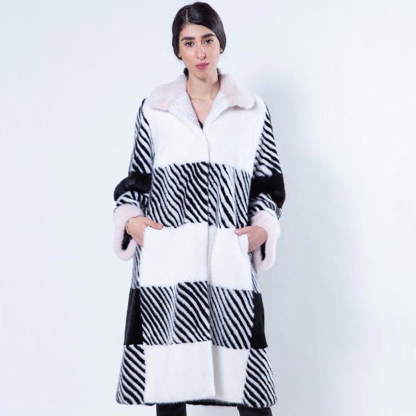 Mink Coat with Rosa Mink Collar and Cuffs | Sarigianni Furs