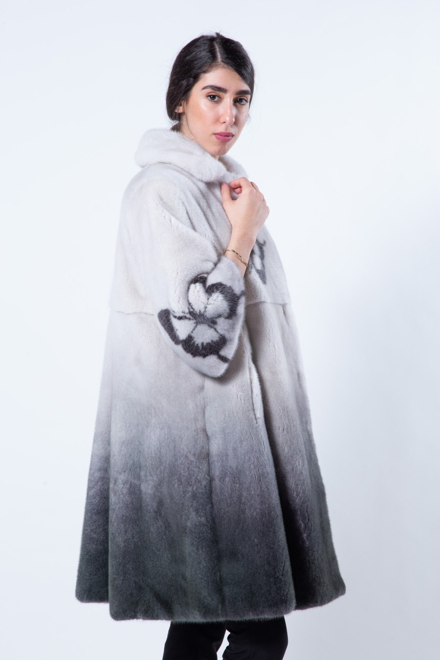 Black Degrade Mink Jacket | Sarigianni Furs