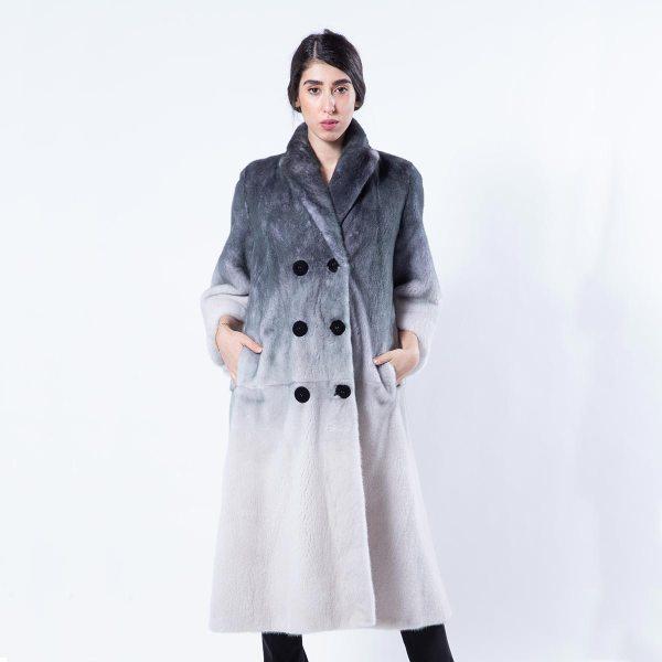 Black Degrade Mink Coat | Sarigianni Furs