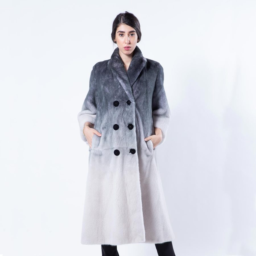 Black Degrade Mink Coat | Sarigianni Furs
