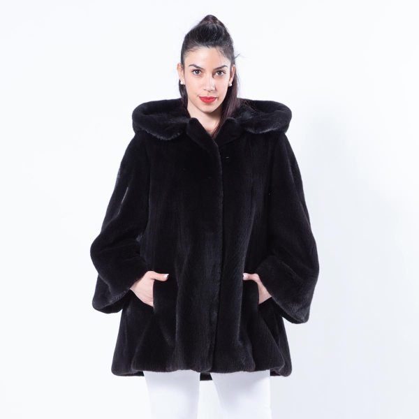 Blackglama Mink Jacket with Hood | Пальто из норки Blackglama с капюшоном - Sarigianni Furs