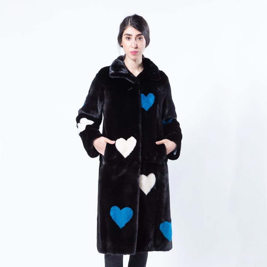 Blackglama Mink Coat with Hearts | Шуба из норки Blackglama с сердечками - Sarigianni Furs