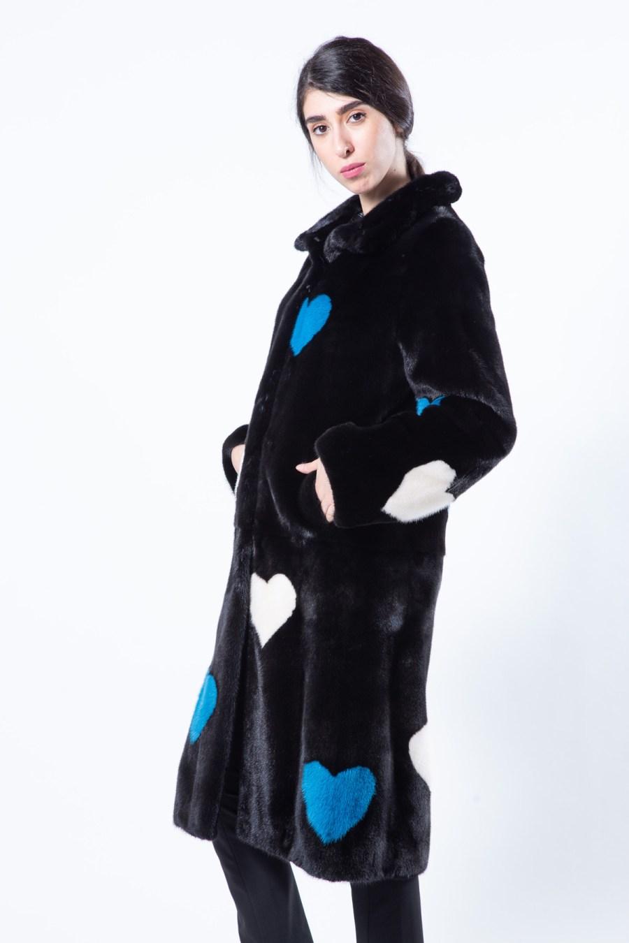 Blackglama Mink Coat with Hearts | Sarigianni Furs