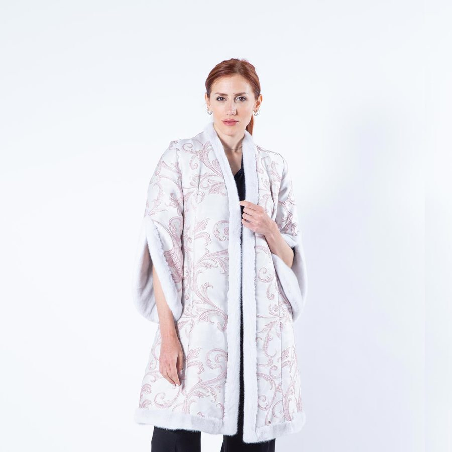 Violet Mink and Fabric Jacket - Sarigianni Furs