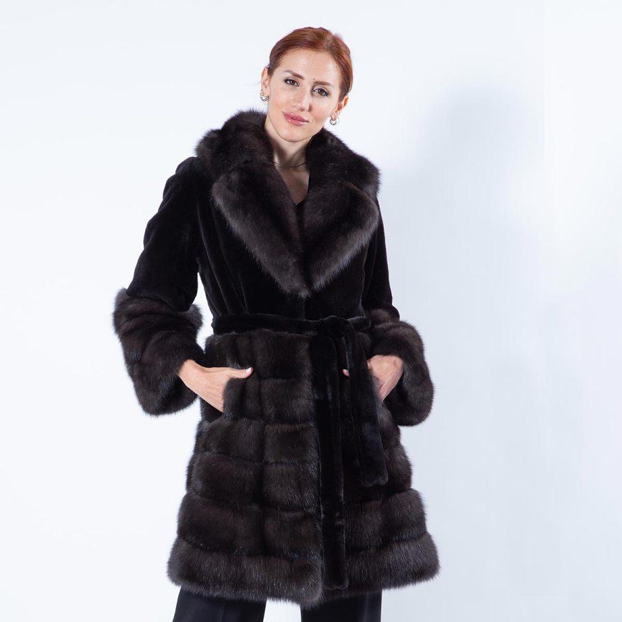 Auro Silvery Sable Jacket | Sarigianni Furs
