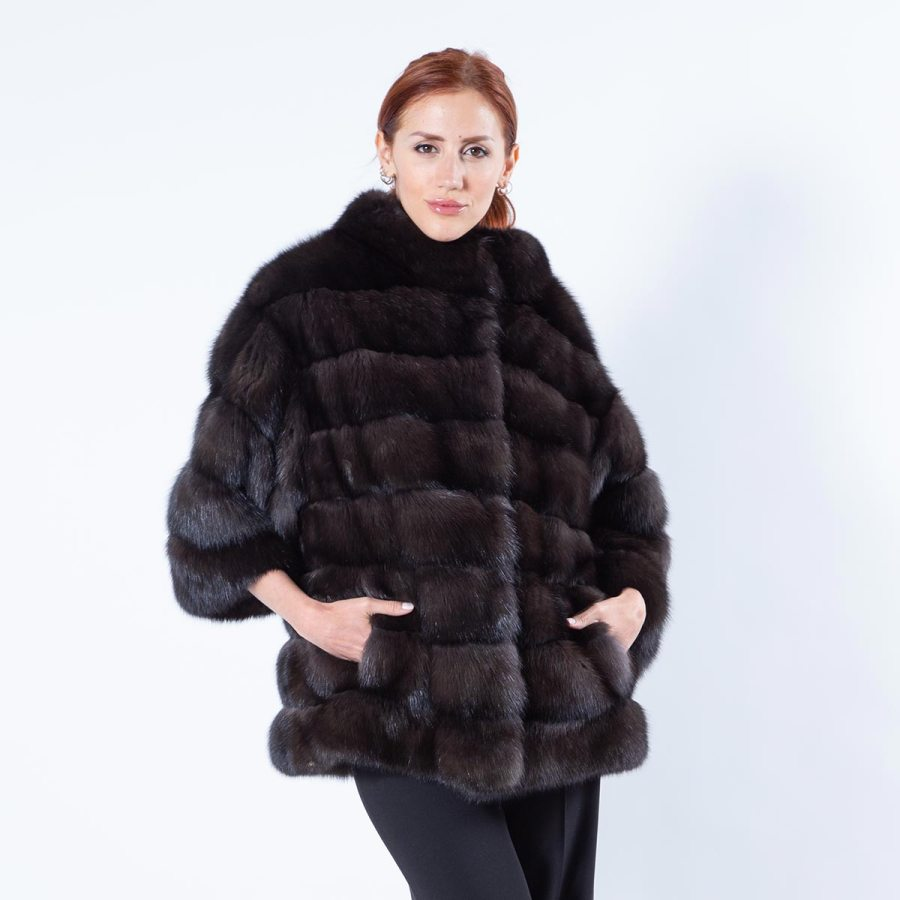 Barguzin Sable Jacket with 7/8 Sleeves | Sarigianni Furs