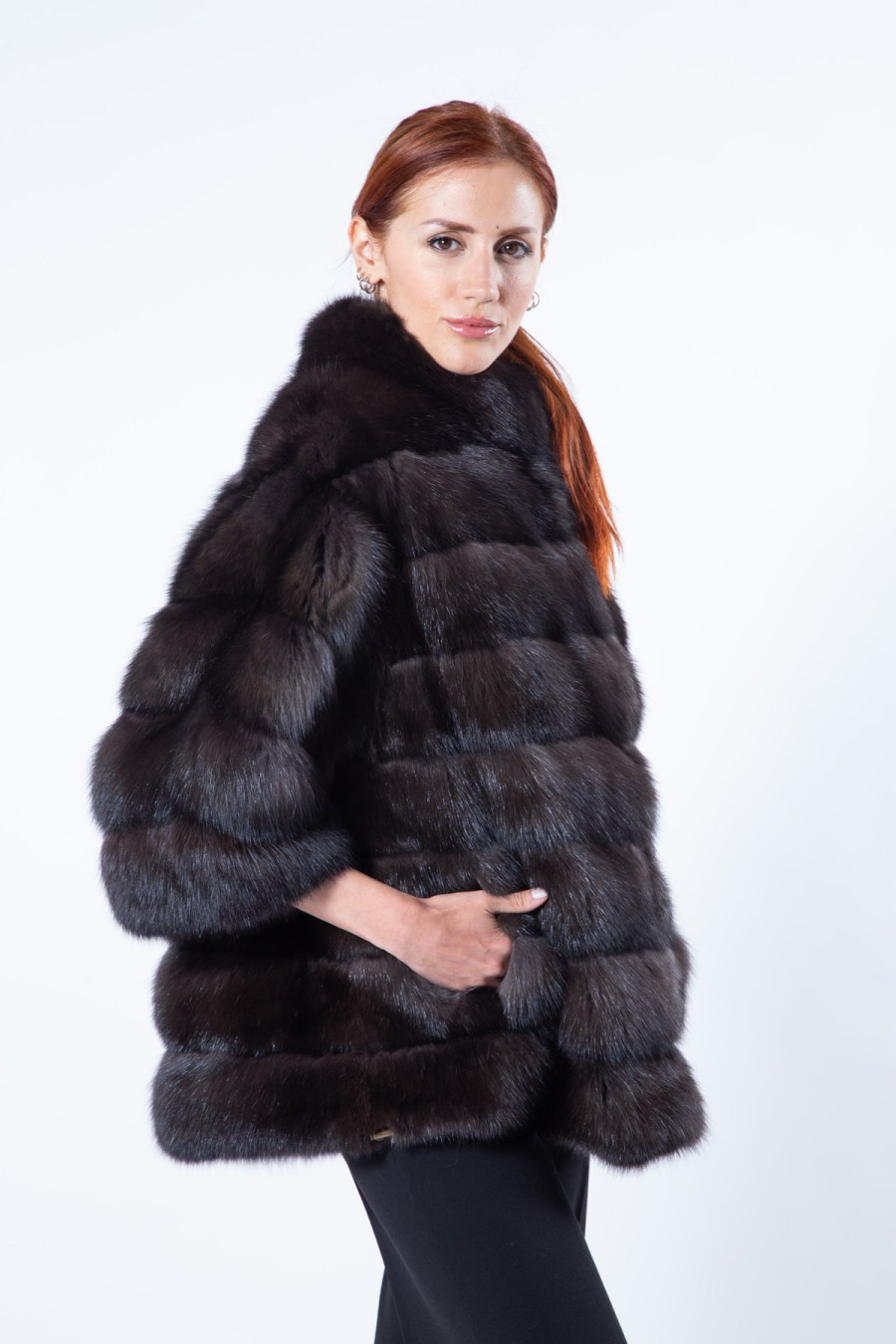 Barguzin Sable Jacket with 7/8 Sleeves | Sarigianni Furs