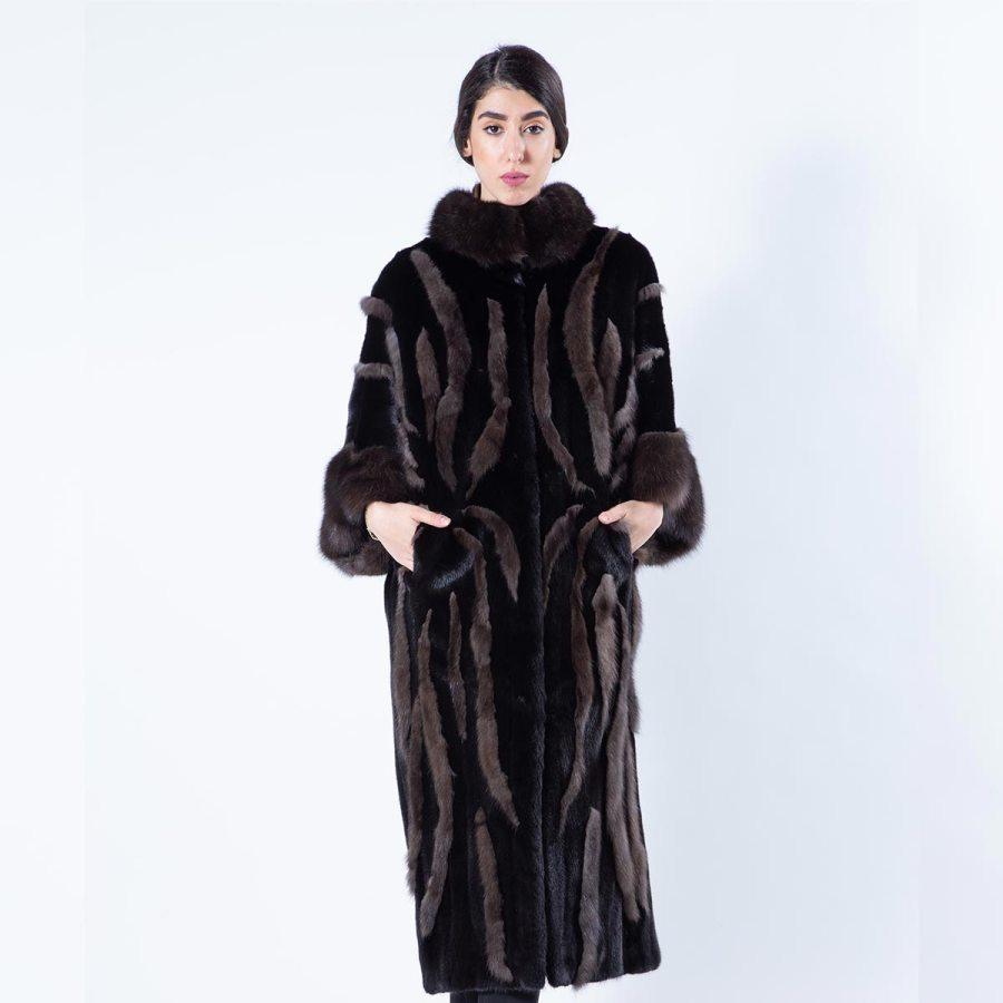 Blackglama Mink Coat with Sable Cuffs | Шуба из меха норки Blackglama с манжетами из соболя - Sarigianni Furs