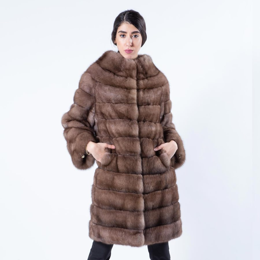 Tortora Sable Fur Coat | Sarigianni Furs