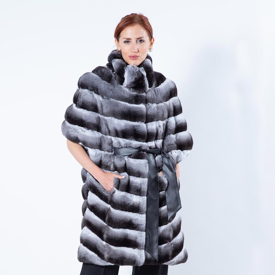 Chinchilla Fur Cape | Sarigianni Furs