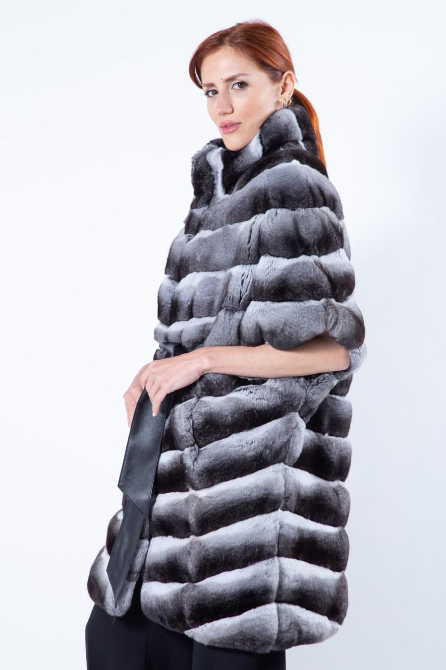 Chinchilla Fur Cape | Sarigianni Furs