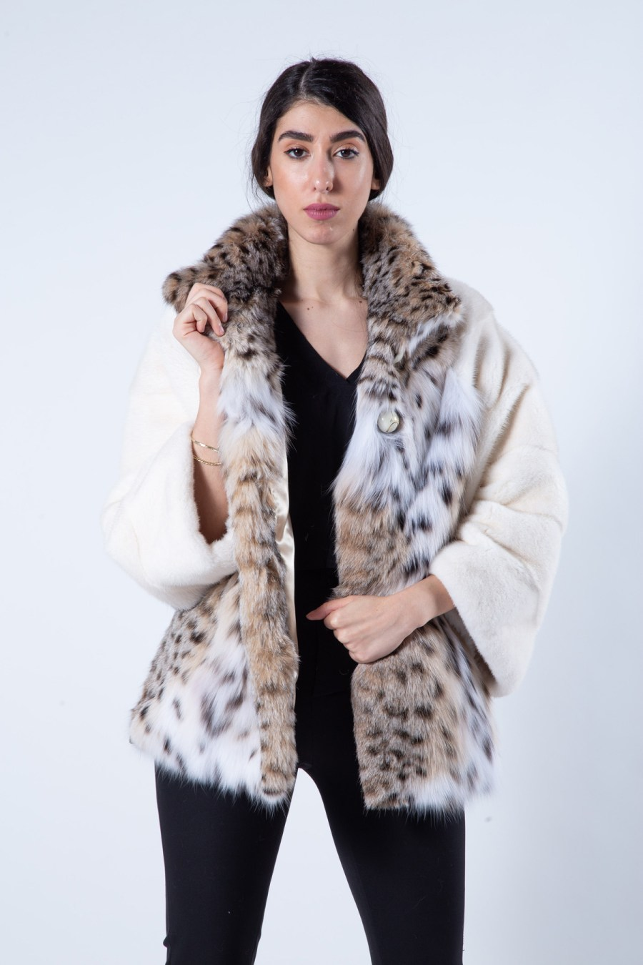 Pearl Mink and Bobcat fur Jacket | Sarigianni Furs
