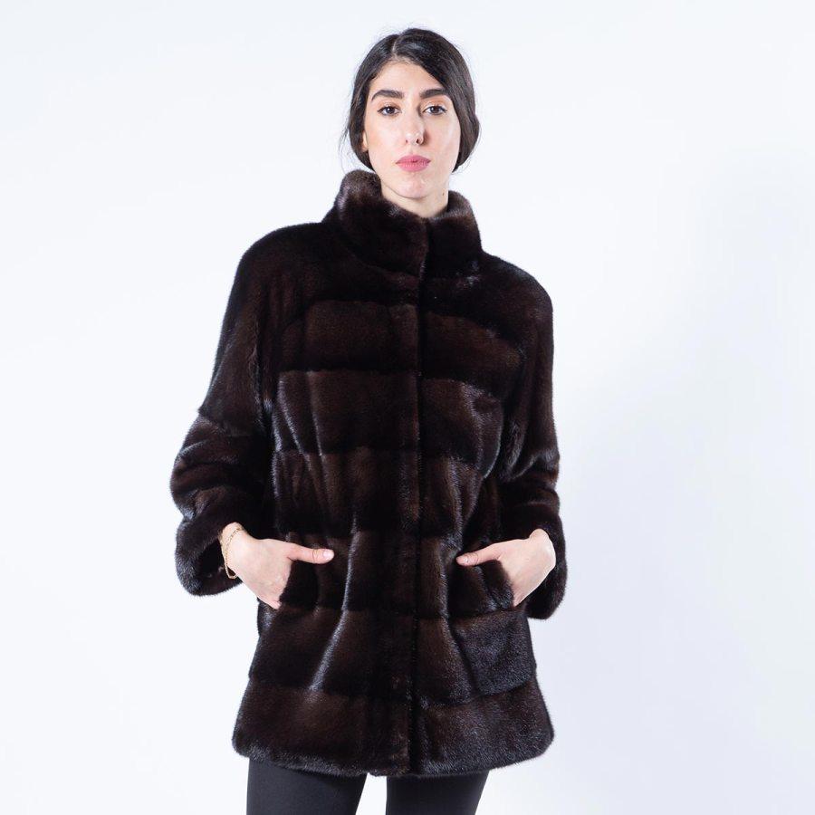 Mahogany Mink Fur Jacket - Sarigianni Furs