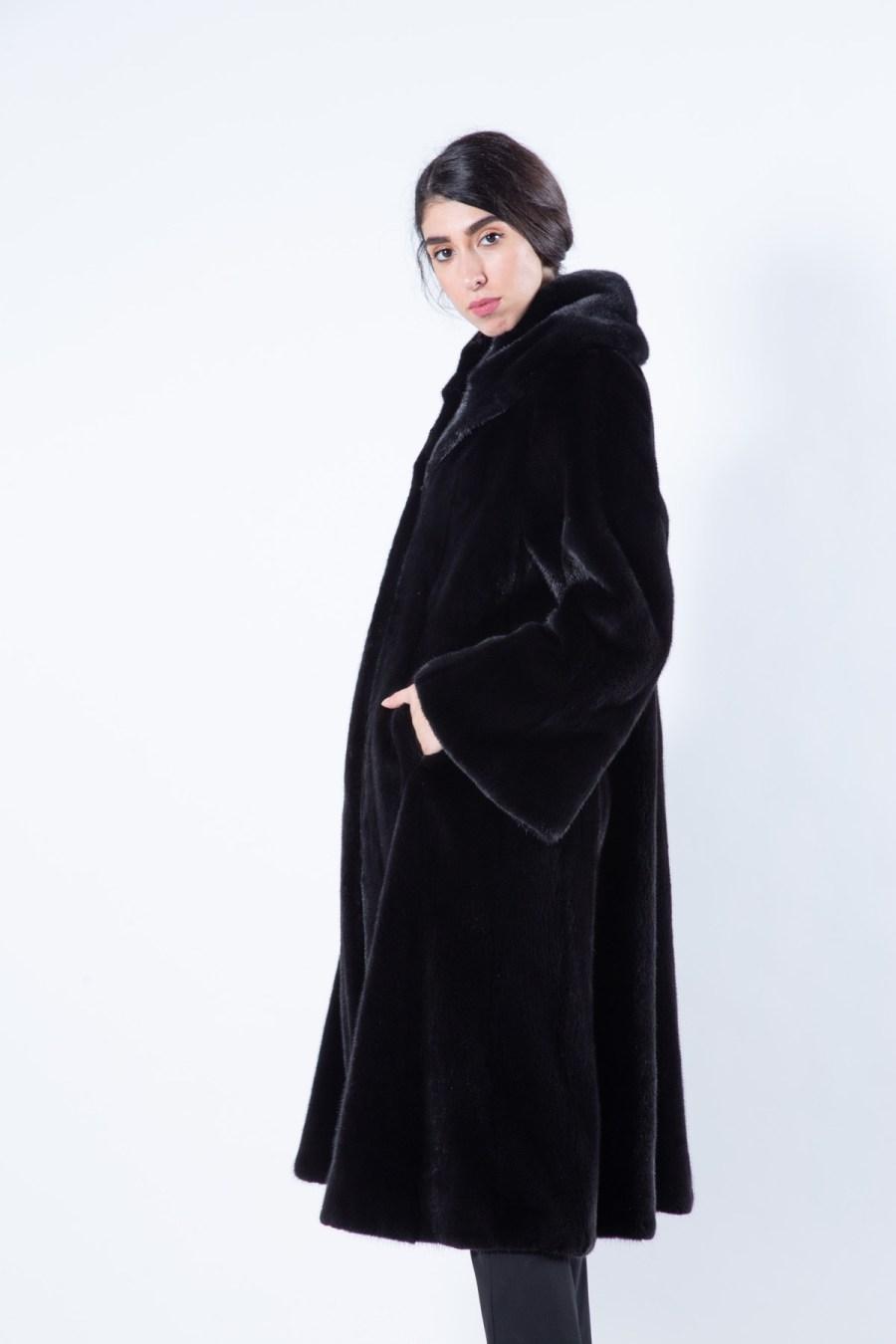 Blackglama Mink Coat with collar - Sarigianni Furs