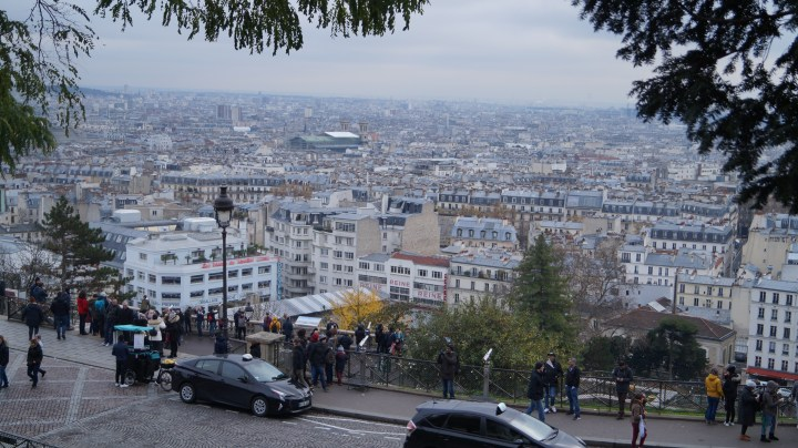View from Monmarte church, paris
