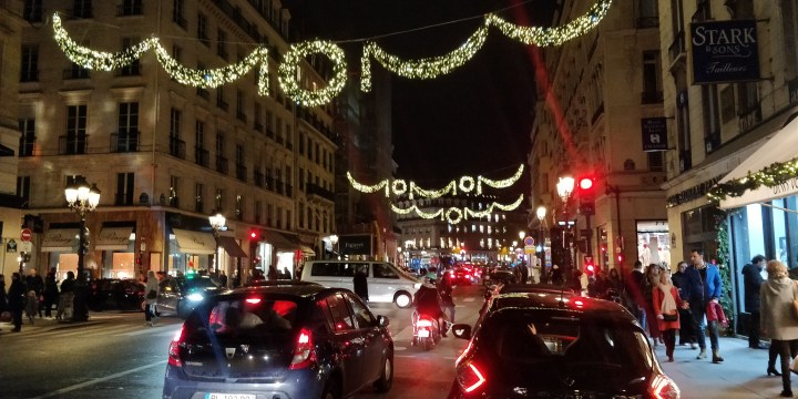 Paris street during night