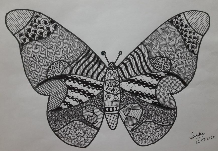 Butterfly Zentangle_Sarika