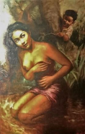 """Lukisan Berjudul """"Anak Nakal"""" oleh Basoeki Abdullah"""