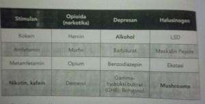 4 jenis golongan narkoba