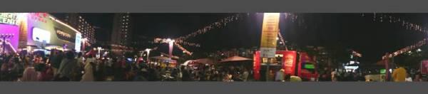 Panorama Food Trcuk Festival malam hari