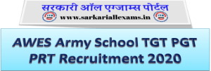 AWES Army School TGT PGT PRT Recruitment 2020 Online Form