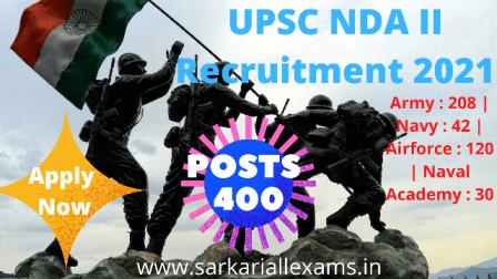 UPSC NDA II Recruitment 2021 Apply Online Form