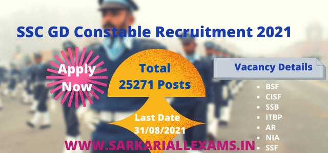 Read more about the article SSC GD Constable Recruitment 2021 Online Form