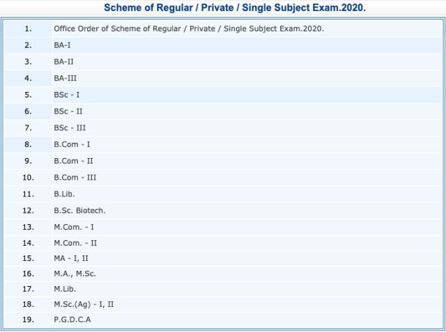 CSJM Kanpur University Scheme 3