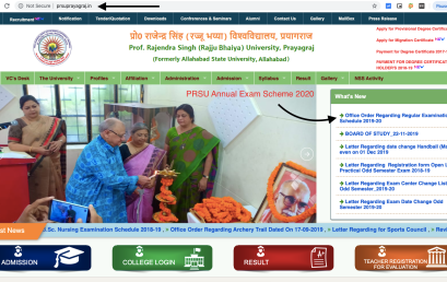 PRSU Prayagraj MA Scheme