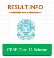 CBSE 12th Scheme