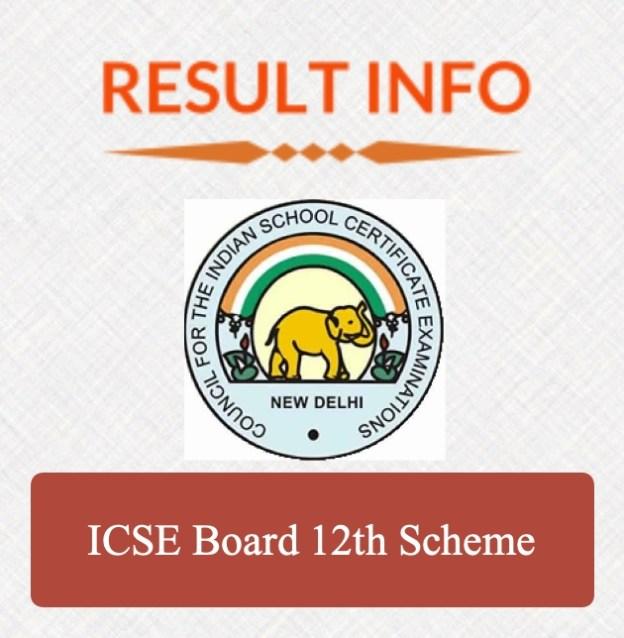 ICSE Board 12th Scheme