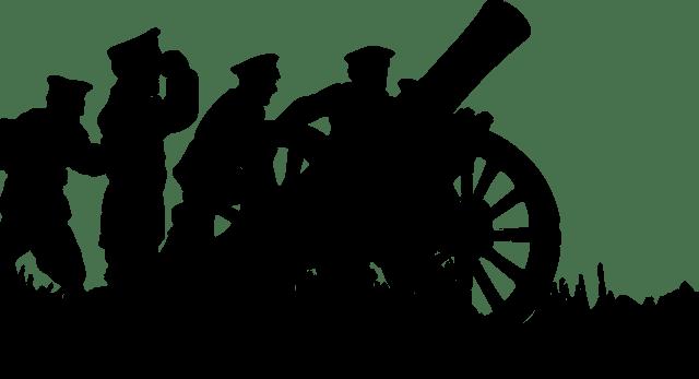 battle, battlefield, canon