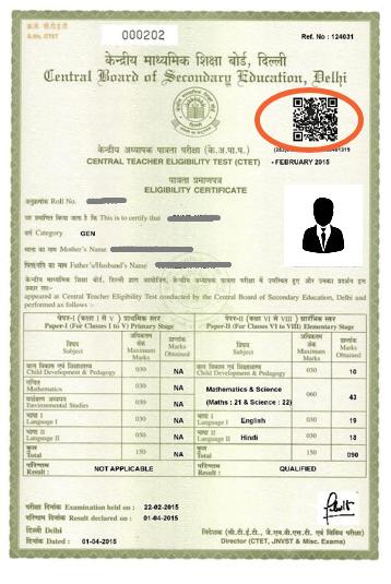 CTET Certificate