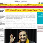 jee main exam postponed to oct 2020