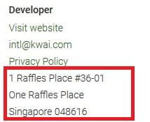 Kwai App Address