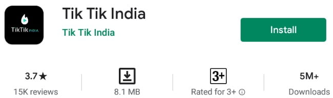 tik Tik India App Download