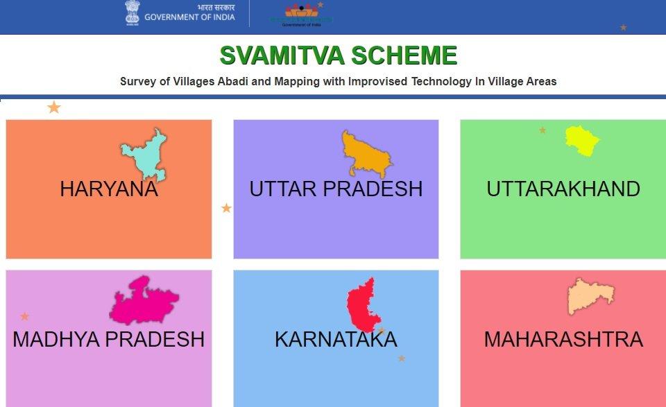 Svamitva Scheme property card download states