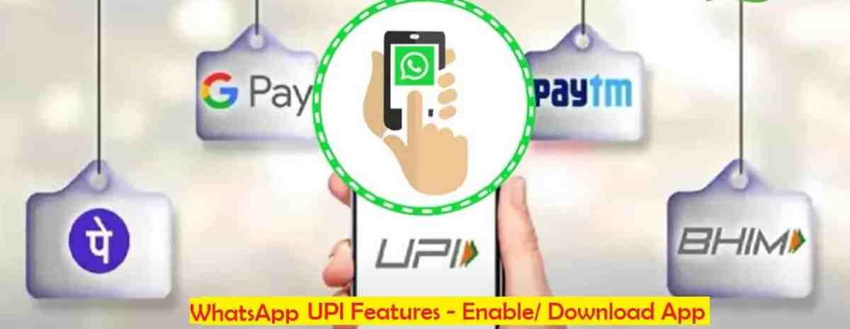 WhatsApp UPI App Features