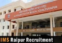 AIIMS, Raipur Recruitment 2018, 26 Vacancies for Assistant Professor Notified