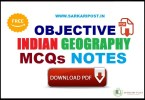 Objective Indian Geography MCQs
