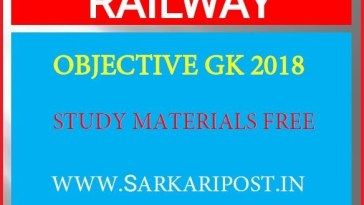 Railway Objective General Knowledge